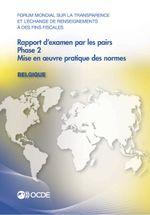 Rapport d'examen par les pairs : Belgique 2013