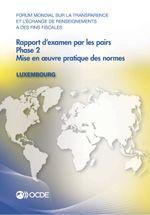 Rapport d'examen par les pairs : Luxembourg 2013