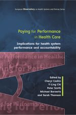 Paying for Performance in Health Care