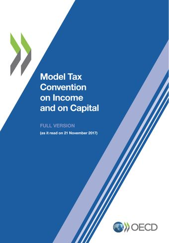Publication Cover - Model Tax Convention on Income and on Capital 2017 - Full Version
